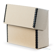 Gaylord Archival® Tan Barrier Board Flip-Top Document Case