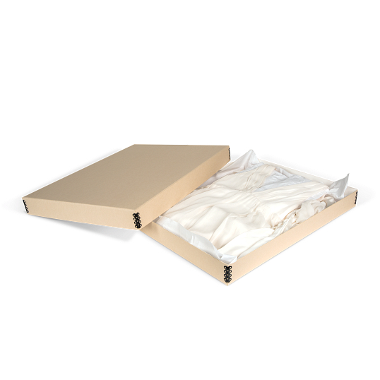 Gaylord Archival® Tan Barrier Board Textile & Costume Box
