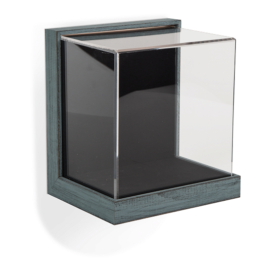 Gaylord Archival® Little Gem Weathered Frame Wall-Mount Exhibit Case