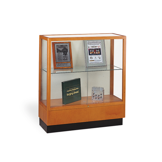 Waddell Heritage Countertop Exhibit Case with Beige Fabric Back