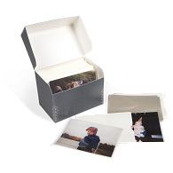 Gaylord Archival® Blue/Grey Barrier Board Flip-Top Negative & Print Storage Kit