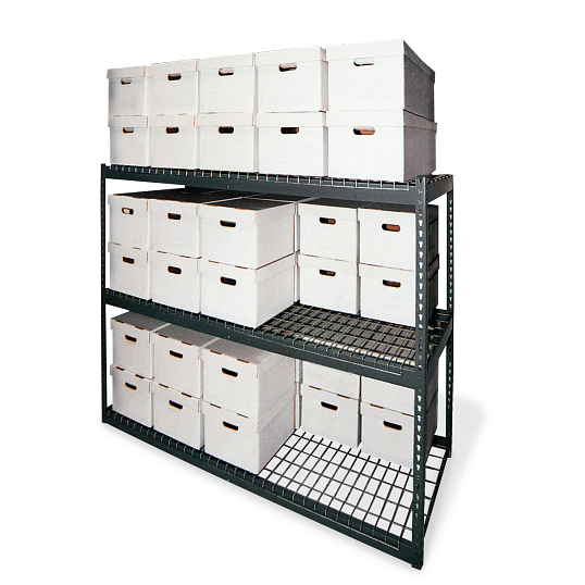 "60""H Steel 60-Carton Record Storage Rack"