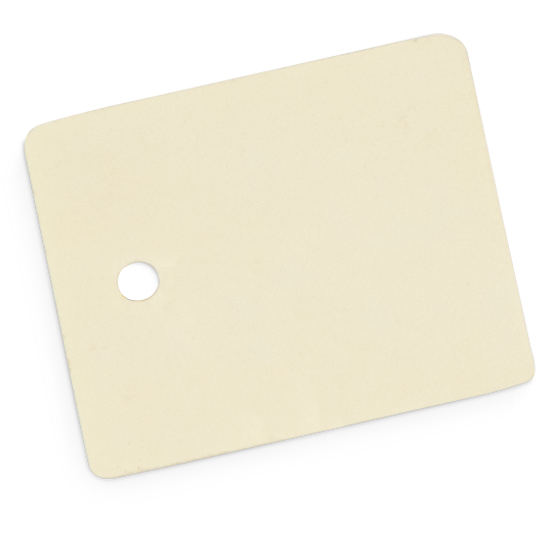 Gaylord Archival® 10 pt. Folder Stock Artifact Tags with Rounded Corners (100-Pack)
