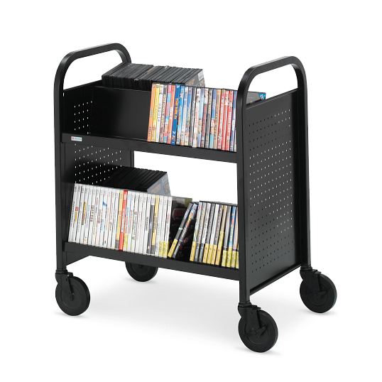 Bretford Voyager 2-Tier Double-Sided Steel Book Truck