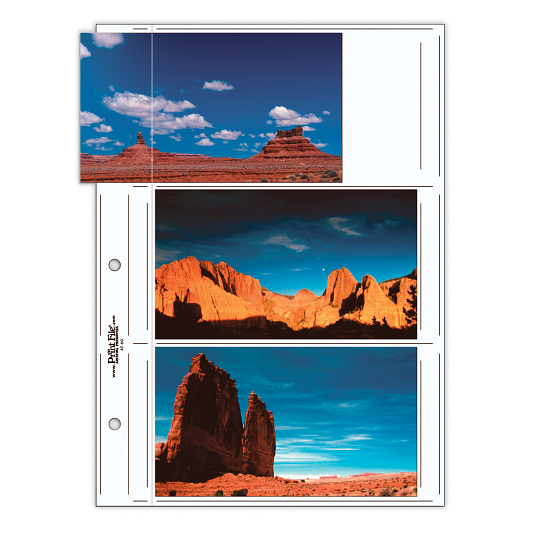 "Print File® 8 mil Polypropylene Oversize Album Pages for 4 x 7"" Prints (25-Pack)"