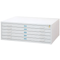 "Safco®-Mayline® Horizontal 5-Drawer Flat File for 36 x 48"" Sheets"