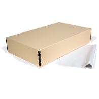 Gaylord Archival® Tan Barrier Board Textile Box with Tissue