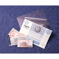 3 mil Archival Polyester Small Currency & Check L-Sleeves (25-Pack)
