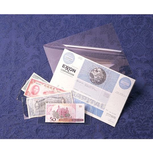 3 mil Archival Polyester Large Currency & Check L-Sleeves (25-Pack)