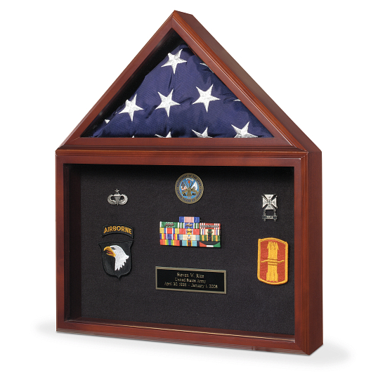 Presentation Flag & Memorabilia Display Case