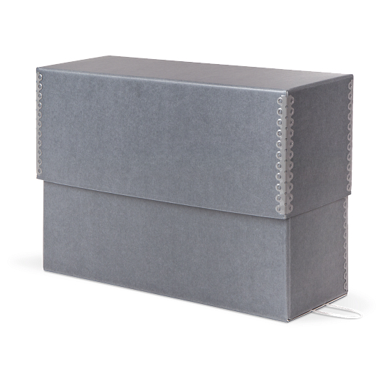 Gaylord Archival® Blue/Grey Barrier Board Separate Lid Legal-Size Document Case