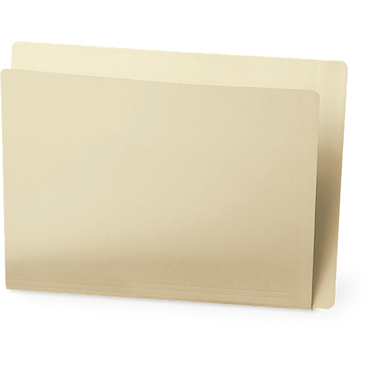 Gaylord Archival® Reinforced End Tab Legal Size File Folders (100-Pack)