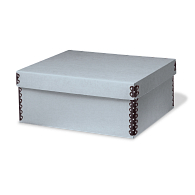 Gaylord Archival® Blue E-flute Shallow Lid Box with Metal Edges