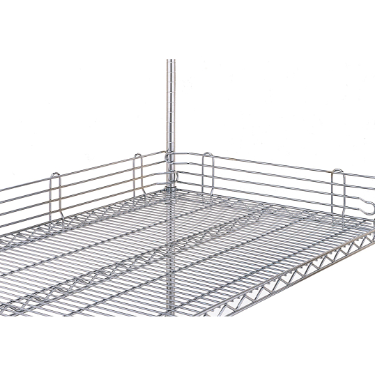 Stackable Side Ledge for Metro Wire Shelving Units