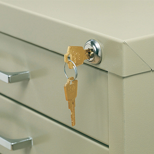 Safco®-Mayline® Lock Kit for Horizontal 5-Drawer Flat Files