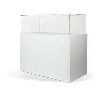 Gaylord Archival® Jewell™ Painted Rectangular Pedestal Exhibit Case