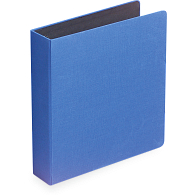"1 1/2"" D-Ring Buckram Keepsake Album with 50 Black Pages & Protectors"