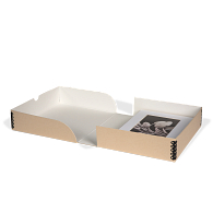 Gaylord Archival® Tan Barrier Board Clamshell Box