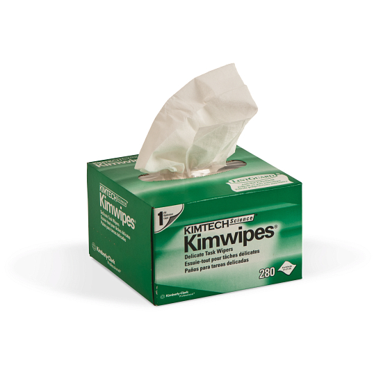 "KIMTECH® 4 1/2 x 8 1/2"" Low-Lint Kimwipes® (280-Pack)"