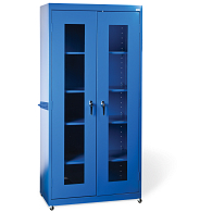 "Sandusky-Lee 78""H Mobile Clear View Storage Cabinet"