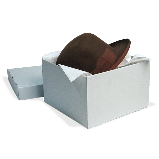 Gaylord Archival® Blue B-Flute Hat & Artifact Box