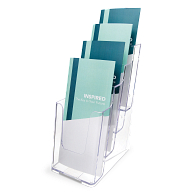 Acrylic Pamphlet Literature Display Rack with Four Tiers