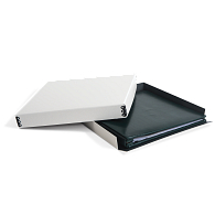 "Gaylord Archival® White Barrier Board Drop-Front Box for 12 x 12"" Scrapbooks"