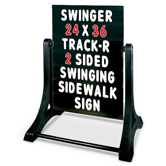 Swinger Outdoor Double-Sided Letterboard Sidewalk Sign