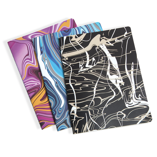 Marbled Cover 3-Piece Notebook Set