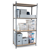 "Tennsco Z-Line Boltless 42""W Shelving Starter Unit with Steel Shelves"
