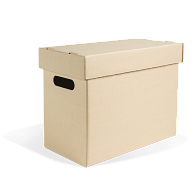 Gaylord Archival® Light Tan Classic Half-Size Legal Record Storage Carton