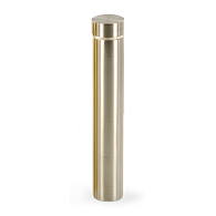 "1"" Diameter Brushed Nickel Flat Cap Steel Stand-Off"