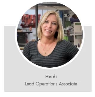 Heidi, Lead Operations Associate