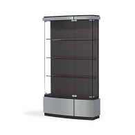 Waddell Quantum Exhibit Case with Double Doors