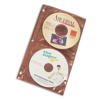 Copper Guard™ Polypropylene 4-Pocket CD Storage Pages (5-Pack)