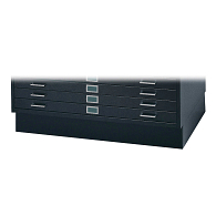 "Safco® 6"" Base for Horizontal 5-Drawer Flat Files for 24 x 36"" Sheets"