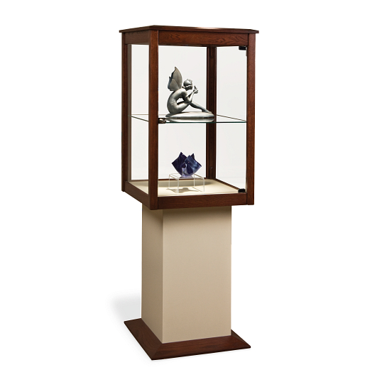 Gaylord Archival® Joele™ Wood & Glass Exhibit Case with LED Lighting
