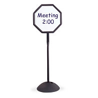 Safco® Write Way® Indoor Double-Sided Octagon Message Board Stand