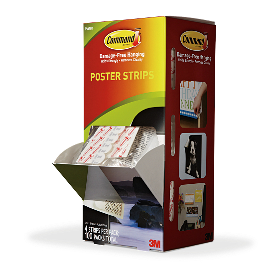 Command™ Poster Strips (100 Packs of 4 Strips)