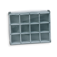 Gaylord Archival® E-flute Clear Lid 12-Capacity Multi-Divider Box