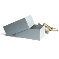Gaylord Archival® Blue E-flute Shoes Box