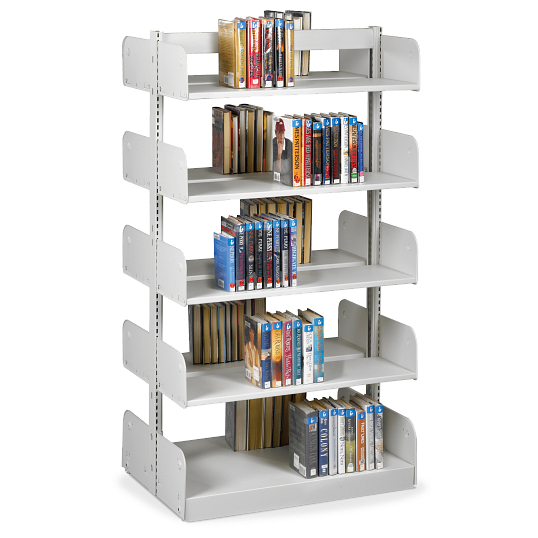 "Estey 84""H Double-Faced Cantilever Steel Shelving"