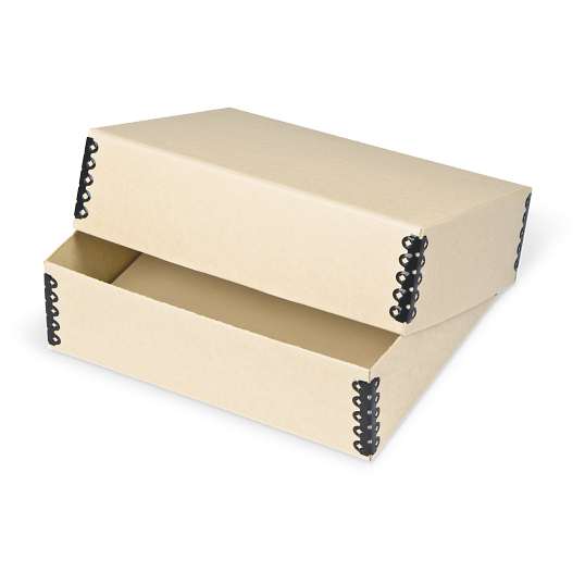Gaylord Archival® Tan Barrier Board Deep Lid Print Box