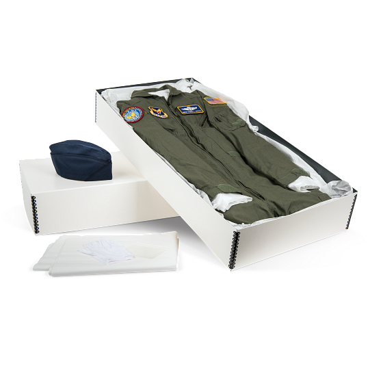 Gaylord Archival® White Barrier Board Uniform & Suit Preservation Kit