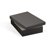 Gaylord Archival® Black Barrier Board Shallow Lid Storage Box