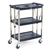 3-Shelf Folding Utility Cart