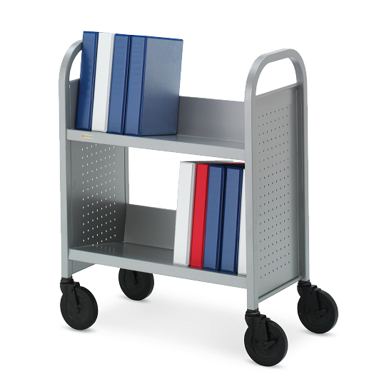 Bretford Voyager 2-Tier Single-Sided Steel Book Truck