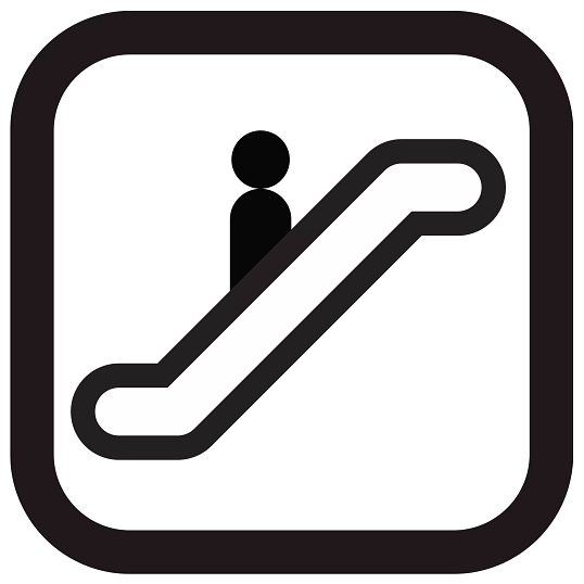Self-Adhesive Removable Vinyl Escalator Graphic