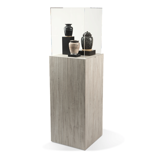Gaylord Archival® Jewell™ Laminate Square Pedestal Exhibit Case
