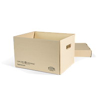 Gaylord Archival® Light Tan Ultimate Shallow Lid Record Storage Carton